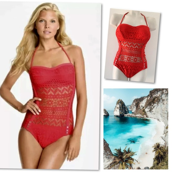 Robin Piccone Other - ROBIN PICCONE PENELOPE CROCHET ONE PIECE SWIMSUIT
